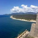 na południe od Santiago znajduje sie zamek: Castillo del Morro